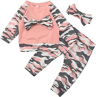 Neugeborene Baby Jungs Bodysuit Strampler Camo Hose Harem Outfits Set Kleidung