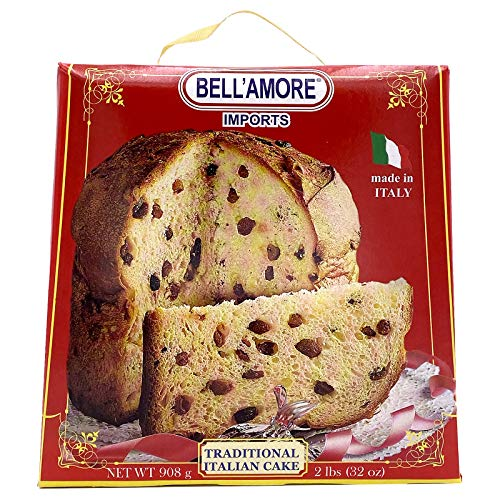 Traditional Italian Panettone Bread 2lbs | Imported from Italy | Italian Cake with Raisins and Dried Candied Orange Peels