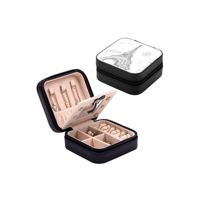 Caja organizadora de cosméticos de viaje para joyas, maquillaje, pintalabios, caja de almacenamiento para joyas, collar y regalo de cumpleaños Size HEIXIAO: Amazon.es: Hogar