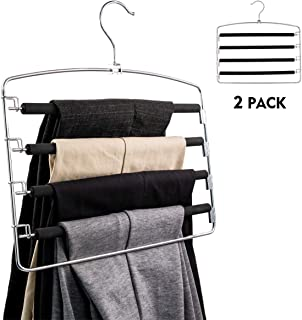 ALIOO Clothes Pant Hanger Closet Storage Organizer for Scarf Trouser Laundry Room Hanging(2 Pack)