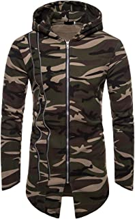 Men Hooded Men Jacket Fashion Zipper Camouflage Long Sleeve Spring and Autumn Sports Leisure Comfortable Breathable Boutiq...