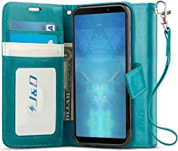 J&D Case Compatible for Galaxy A9 2018 Case, [Wallet Stand] [Slim Fit] Heavy Duty Protective Shock Resistant Flip Cover Wallet Case for Samsung Galaxy A9 2018 Wallet Case - [Not for Galaxy A9 2016]