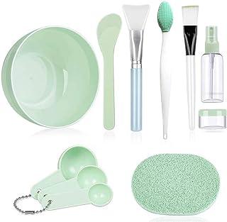 Dolson Face Mask Mixing Bowl Set of 10 Pcs DIY Facemask Mixing Tool Kit With Facial Mask Bowl Stick Spatula Silicone Brush...