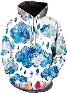 Unisex Hoodie 3D Print Palm Tree Ocean Tropical Sherpa Lined Fleece Sweatshirt Size XS