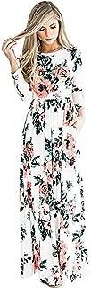 Women Floral Print Casual Plain Stretch Tank Maxi Long Dress