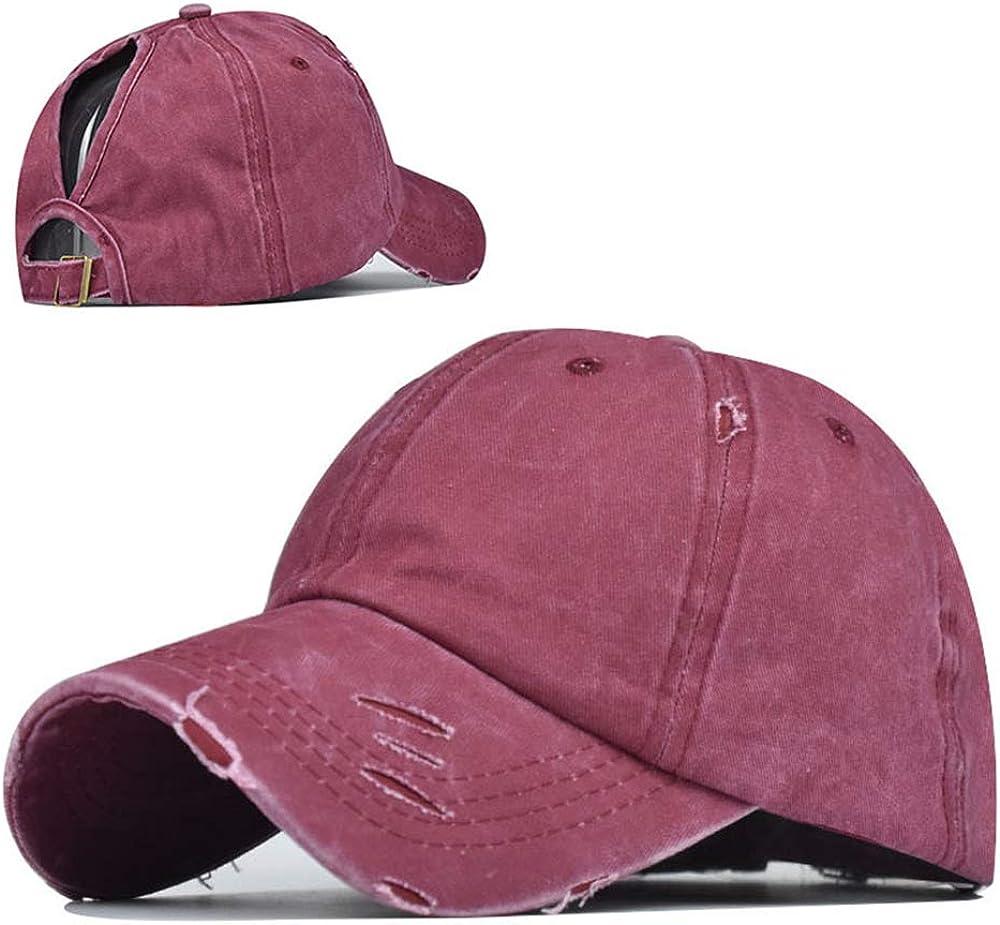 High Ponytail Baseball Hat Women Messy Bun Hat Sun Protection Ponycaps Retro Trucker Hat Summer Beach Cap