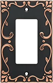Franklin Brass W35072-VBC-C Classic Lace Single Decorator Wall Switch Plate/Cover, Bronze With Copper Highlights