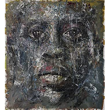 Shai Yossef Special Extra extra-large print on canvas by the artist, wall art decor,decorative,Art Collectibles,african american man portrait 95/85cm (37.4 x33.47 ) Oil paintings prints UNFRAMED