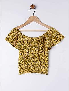 Blusa Ciganinha Juvenil Para Menina - Amarelo