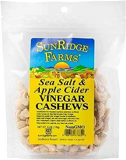 SunRidge Farms Sea Salt and Apple Cider Vinegar Cashews, 6 Ounce (Pack of 12)