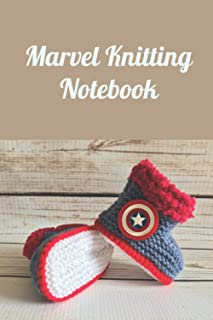 Marvel Knitting Notebook: Notebook|Journal| Diary/ Lined - Size 6x9 Inches 100 Pages