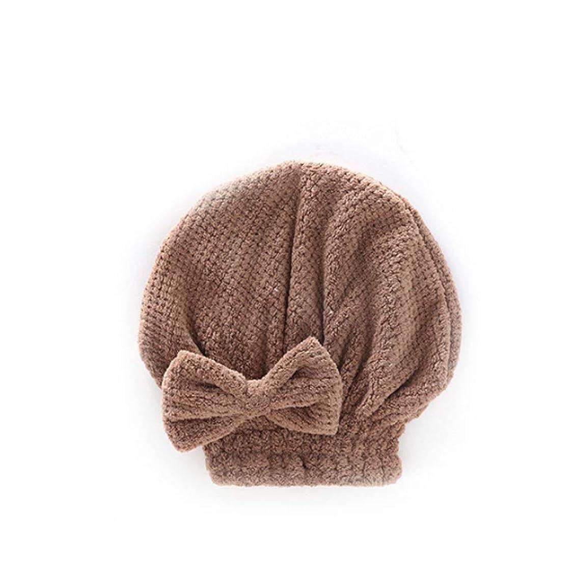 部ドリンク論理シャワーキャップ、婦人用ドライシャワーキャップデラックスシャワーキャップ、髪の毛の長さと太さ、再利用可能なシャワーキャップ。 (Color : Brown)