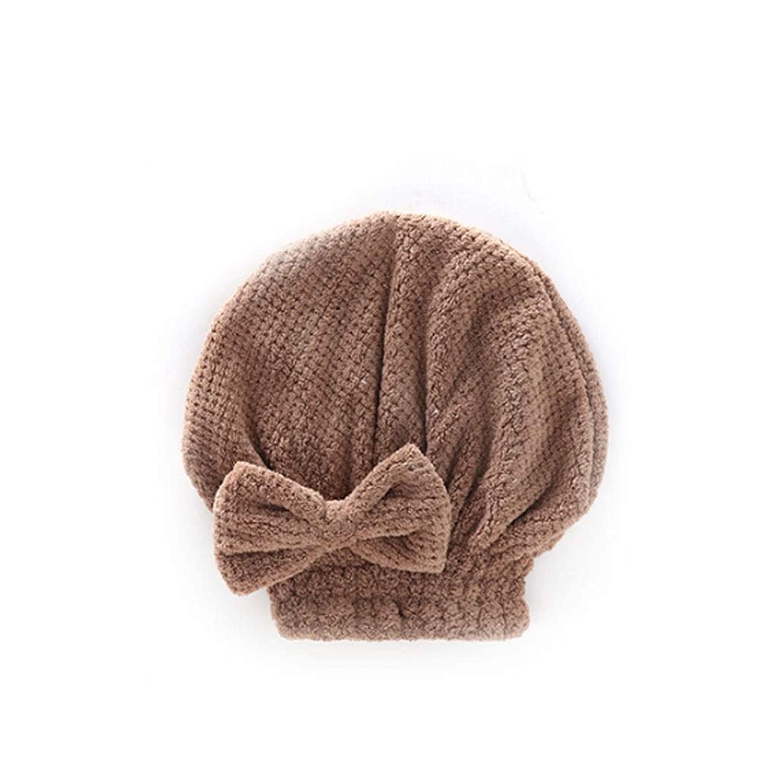 哲学者うそつき不可能なシャワーキャップ、婦人用ドライシャワーキャップデラックスシャワーキャップ、髪の毛の長さと太さ、再利用可能なシャワーキャップ。 (Color : Brown)