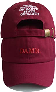 Unisex Spring Summer Hats Embroidered Earth Dad Hat Hip Hop Cap Kendrick Lamar Rapper Snapback Baseball Cap