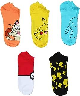 Pokemon Assorted 5-pack No Show Mens Socks