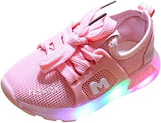 Baby Toddler Girls Boys Led Light Tennis Shoes Sneakers 1-6 Years Old Kids Letter Crystal Running Sport Shoes