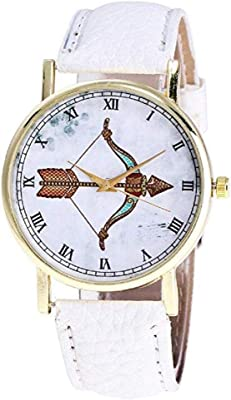 Noopvan Women Pattern Watches Clearance Ladies Watches Female Watches on Sale Leather