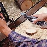 RanDal Kit de accesorio de afilado de sierra de cadena con piedra de pulir para adaptador de taladro de herramienta rotativa