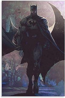 NIUASH Batman Dark Knight Art Poster Decorative Painting Canvas Wall Art Living Room Posters Bedroom Painting 12×18inch(3...