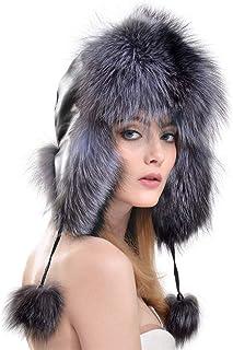 Hat Fashion Hat Earmuffs Autumn and Winter Ladies Fashion Ski Hat Fashion Accessories (Color : Silver)