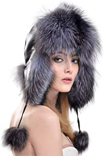 Hats Hat Earmuffs Autumn and Winter Ladies Fashion Ski Hat Fashion (Color : Silver)