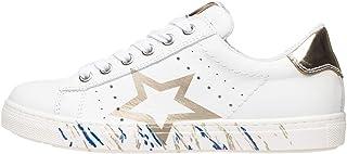 Nero Giardini P830198F Sneakers Teens Fille en Cuir Et Toile