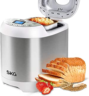 SKG 2LB Automatic Programmable Bread Machine Multifunctional Bread Maker-Silver