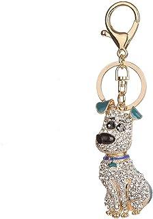 Swiftswan BZ368 - Llavero Colgante con Forma de Perro, diseño de Diamantes