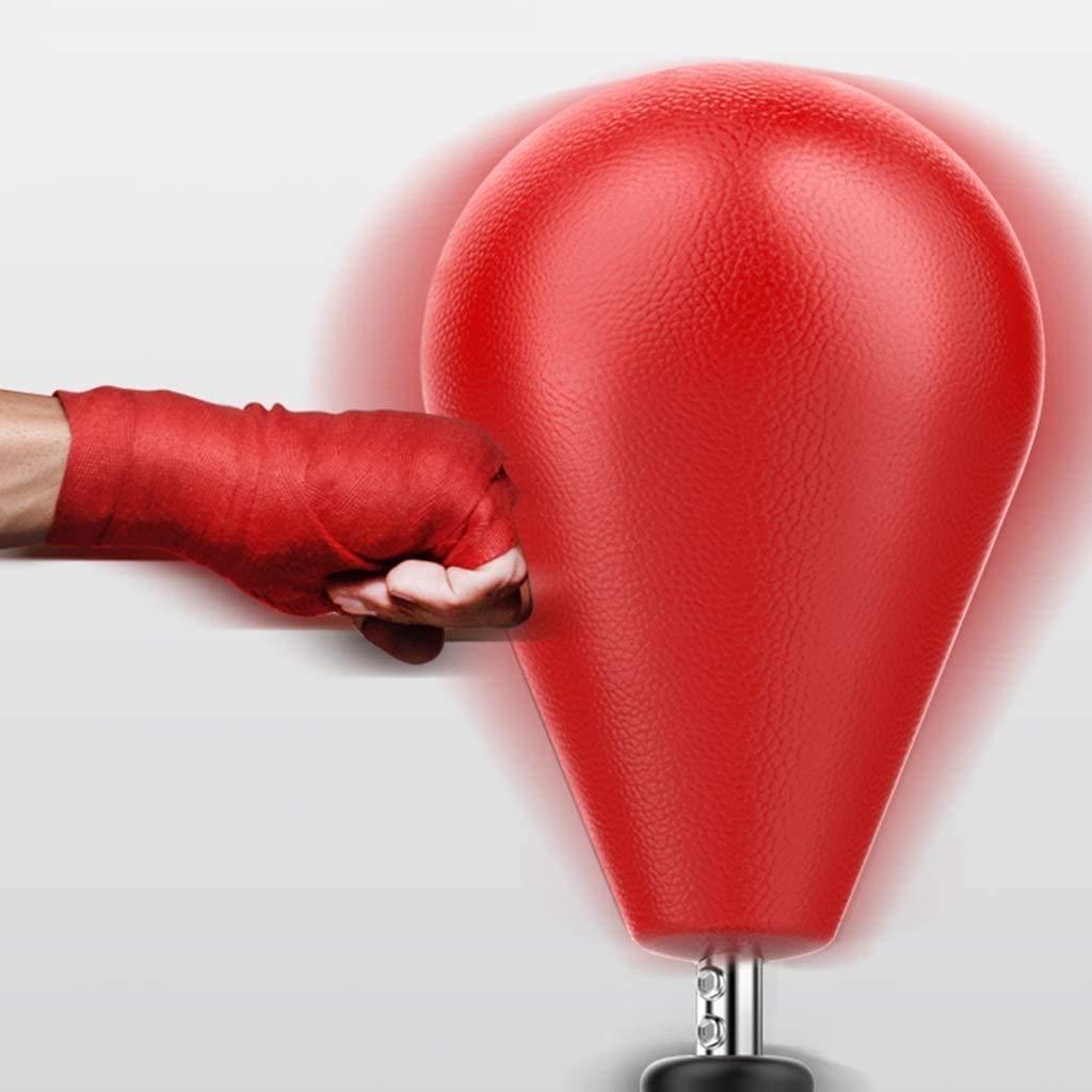 AI XIN SHOP Soporte Pesada Conjuntos de Saco de Boxeo con Guantes, arbitrarias Altura de la Bola de Velocidad Ajustable Reflex Boxeo Objetivo for Adultos y niños, Ventosa Base (Color : Rojo):