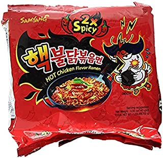 Samyang 2X Spicy Hot Chicken Flavor Ramen_KOREAN SPICY NOODLE (140g Each) (5 packs)
