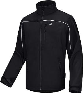 Lesmart Men's Tactical Jacket Softshell Weatherproof Water Resistant Fall Coat