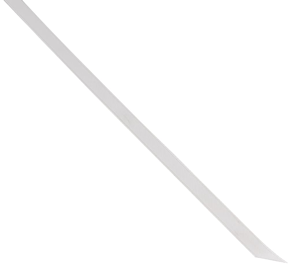 Kel-Toy Double Face Satin Ribbon, 1/4-Inch by 100-Yard, White