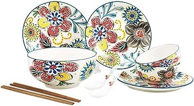 JYKJ Ceramic Tableware, 10-piece Ceramic Tableware Set For Household Use, Non-slip Ceramic Kitchen Supplies, Thick Ceramic Material Combination Tableware