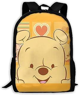 Custom Pooh Casual Backpack School Bag Travel Daypack Gift