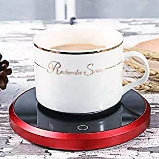 Smart Coffee Warmer, Waterproof Touch Thermostat Heating Coaster Pad for Office Desk Use, Candle Wax Cup Warmer Heating Pl...