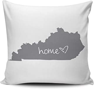 WEINIYA Gray and White Home Kentucky Pillowcase Home Decorative 18x18 Inch Square Throw Pillow Case Cushion Covers Double Sided Printed