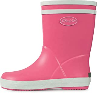 KomForme Kids Rain Boots, Waterproof Rubber Matte Boots with Easy-on Handles