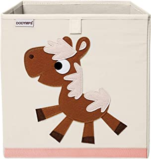 DODYMPS Foldable Animal Toy Storage Bins/Cube/Box/Chest/Organizer for Kids & Nursery, 13 inch (Horse) (Renewed)
