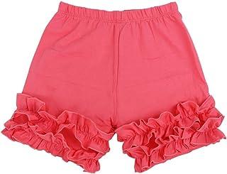 Wennikids Baby Little Girls Short Cotton Icing Ruffle Shorts