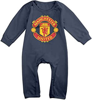 Baby Boys Girls Manchester United Football Club Long Sleeve One-Piece Baby Bodysuit Baby Clothes Bodysuit Romper