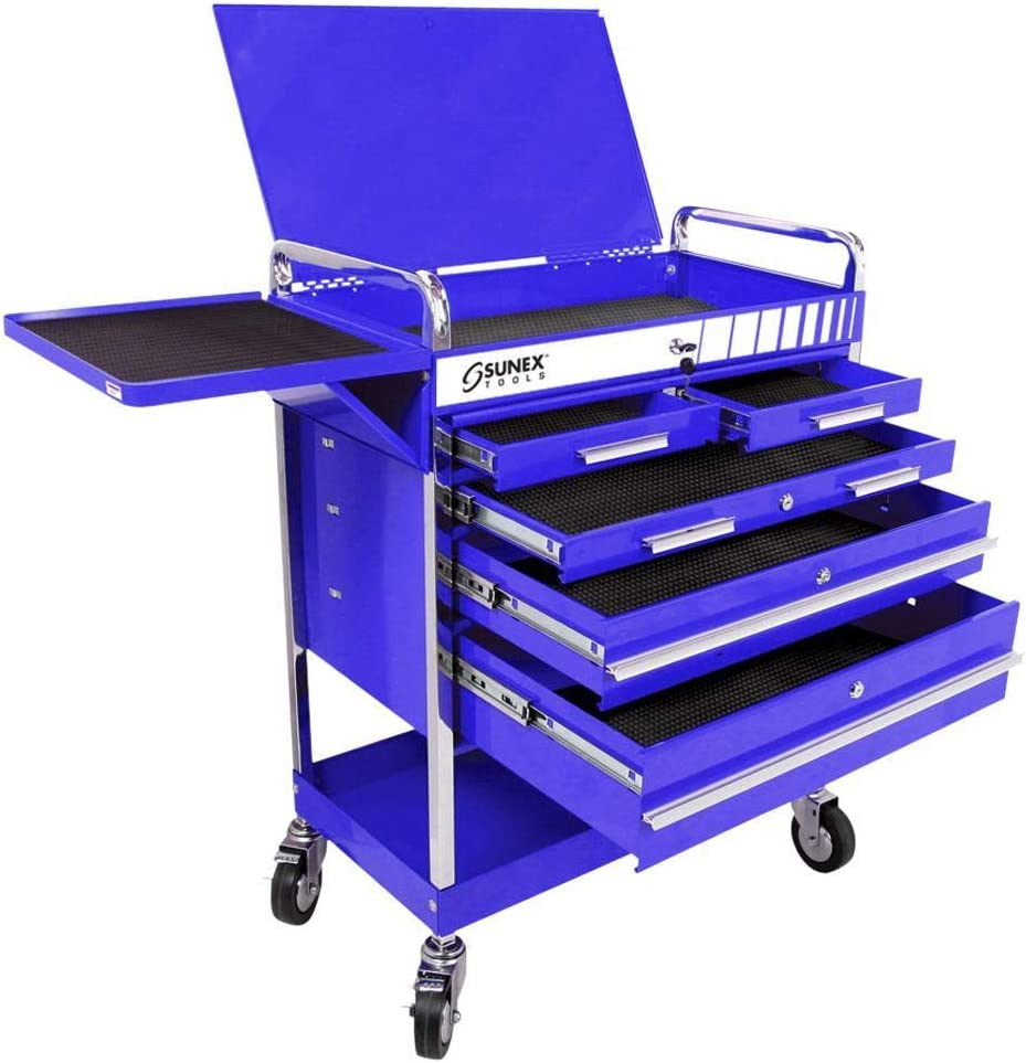 Sunex 8045BL Professional 5 Drawer with Top Max 82% Today's only OFF Locking Service Cart
