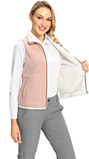 Women's Reversible Fleece Polar Vest Sleeveless Zip up...