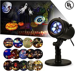 LIGHTESS Halloween Lights Projector Outdoor Indoor Christmas Decorations Waterproof LED Landscape Spotlight for Xmas Theme Party Store Window and Gard
