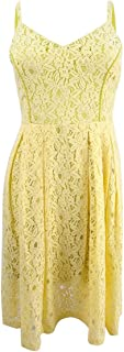 Womens Lace Knee-Length Party Dress