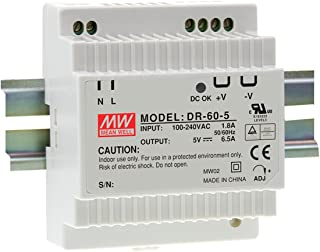 MW Mean Well DR-60-5 5V 6.5A 32W Single Output Industrial DIN RAIL Power Supply