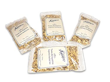 Amarelli - Té de hierbas con regaliz - 10x bolsa 50g