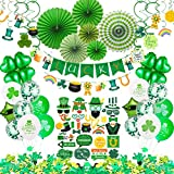 🍀St Patricks Day Decorations consist of the most important elements, shamrocks and leprechauns. The showy hanging decorations can demonstrate St Patrick's faith, traditions and culture. Also with funny St.Patricks Day photo booth props, it will make ...