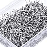 Head Pins Fine Satin Pin Dressmaker Pins for Jewelry Making, Sewing and Craft, Stainless Steel, 1 1/16 Inch (1600 Pieces)