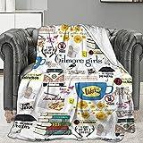 Gilmore-Girls Throw Blanket , Soft Lightweight Decorative Fleece Blankets for Sofa, Bedroom Living Room - All Seasons Suitable for Women Men 50x40 Inch
