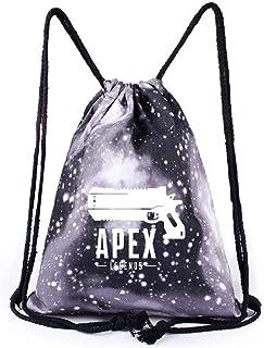 DuLi Apex Legends Mochila para Hombres Lienzo Adolescente Niño Niñas Bolsa con Cordón Simple Bolsas Mochilas Hombres Mujer...